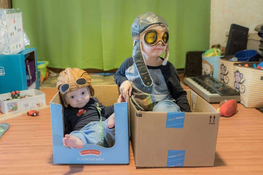 Creative Play in Cardboard Boxes