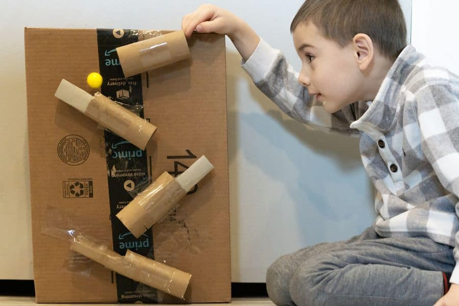 Marble Run STEM Activity with Toilet Paper Rolls