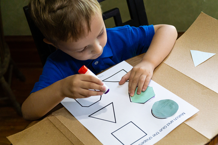 Glue Activities - Matching Shapes
