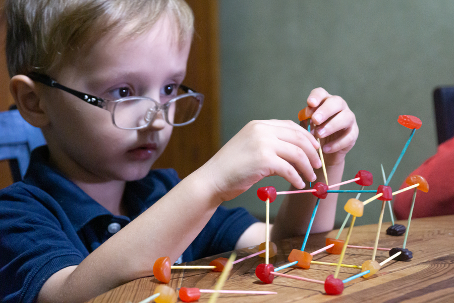 Candy and Toothpick Architecture Activity for Kids